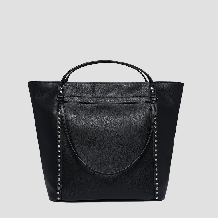 Shopper bag in hammered eco-leather - Replay