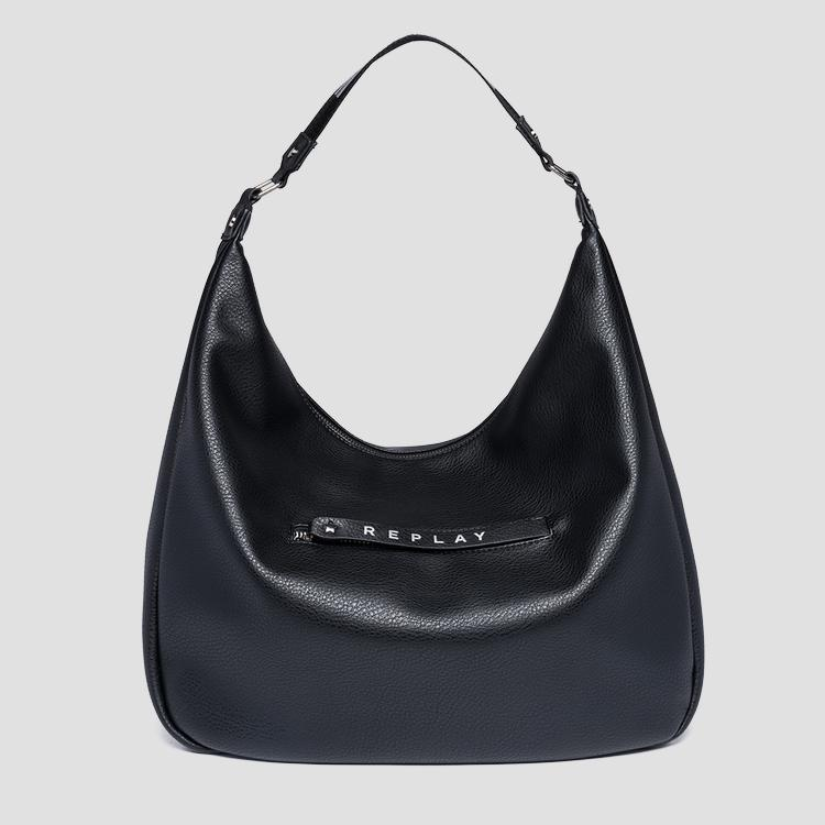 Shoulder bag with logoed zipper puller - Replay