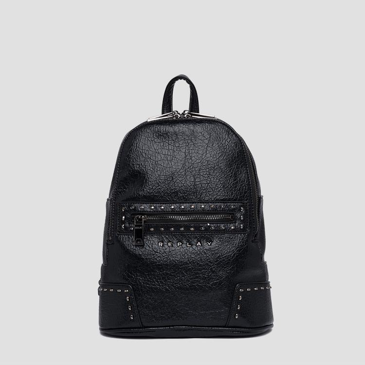 Backpack in crinkle eco-leather fw3852.000.a0316a