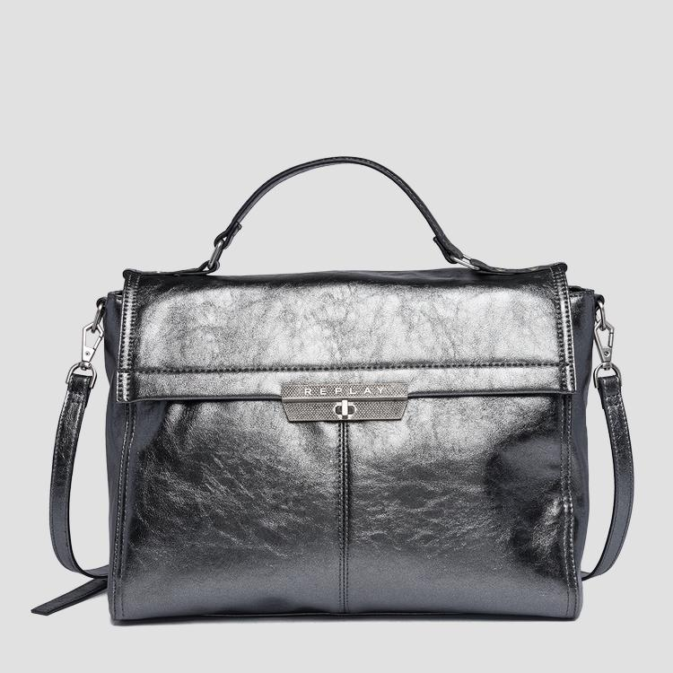 Handbag in laminated eco-leather fw3860.001.a0391