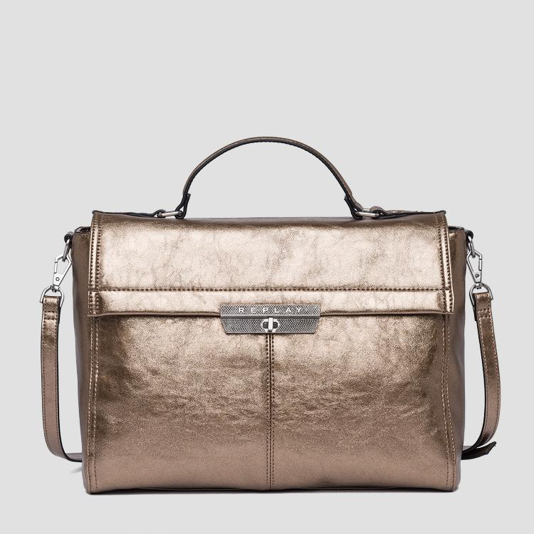 Handbag in laminated eco-leather - Replay