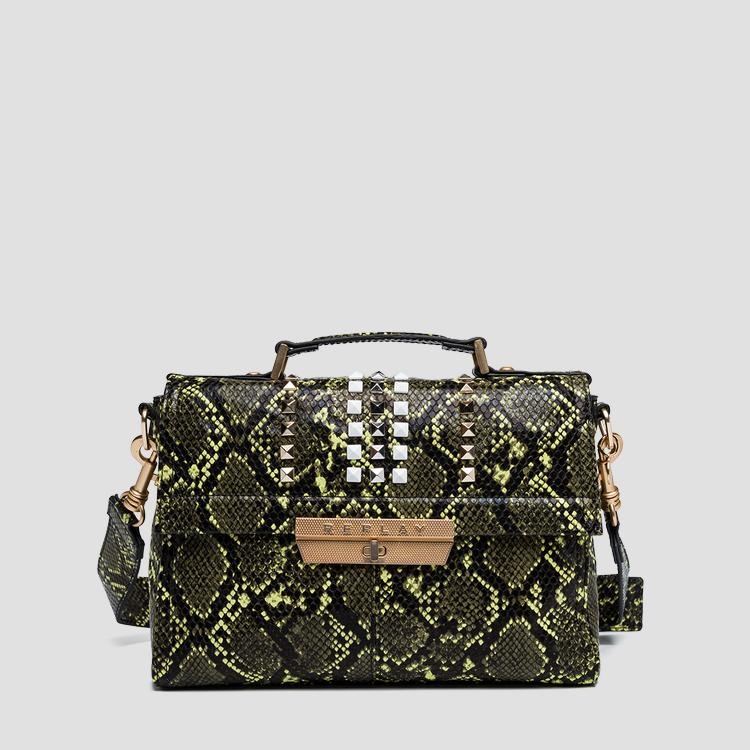 Python shoulder bag with studs - Replay