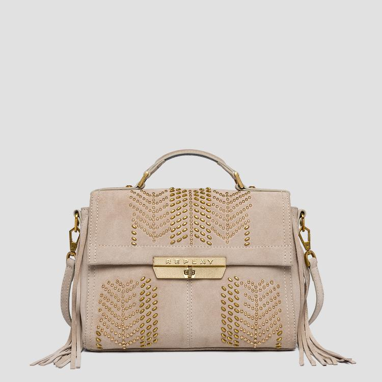 Shoulder bag with fringes and studs fw3861.005.a3154
