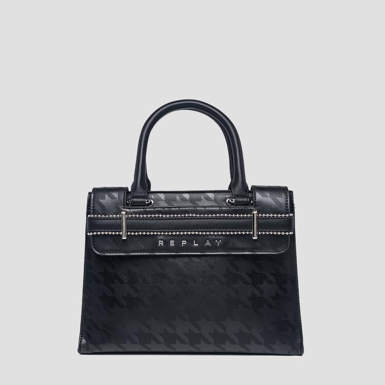 Eco-leather bag with print - Replay