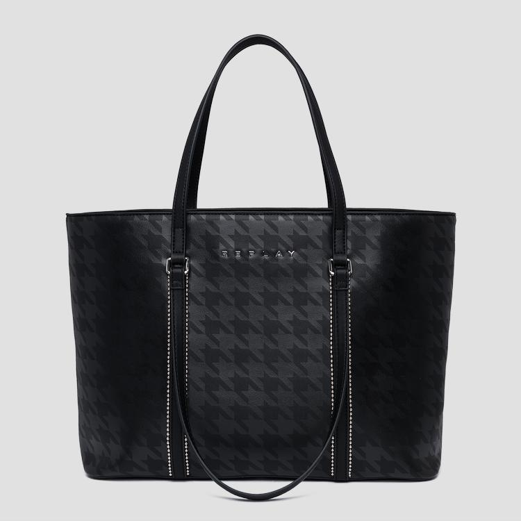 Printed eco-leather shopper bag - Replay