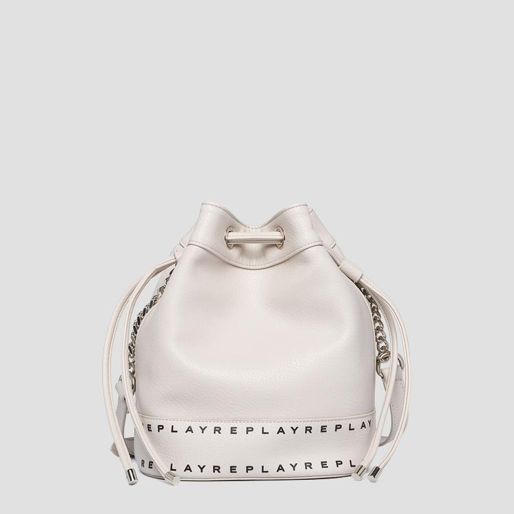 Bucket bag in hammered eco-leather - Replay