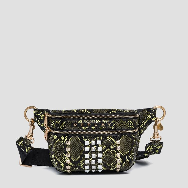 Waist bag with shiny python print fw3908.000.a0247e