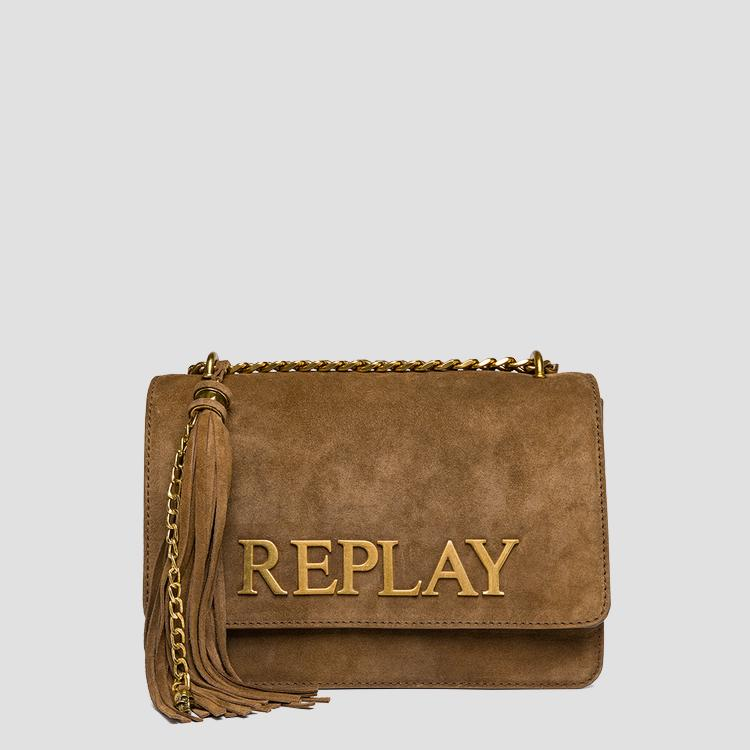 Suede shoulder bag - Replay