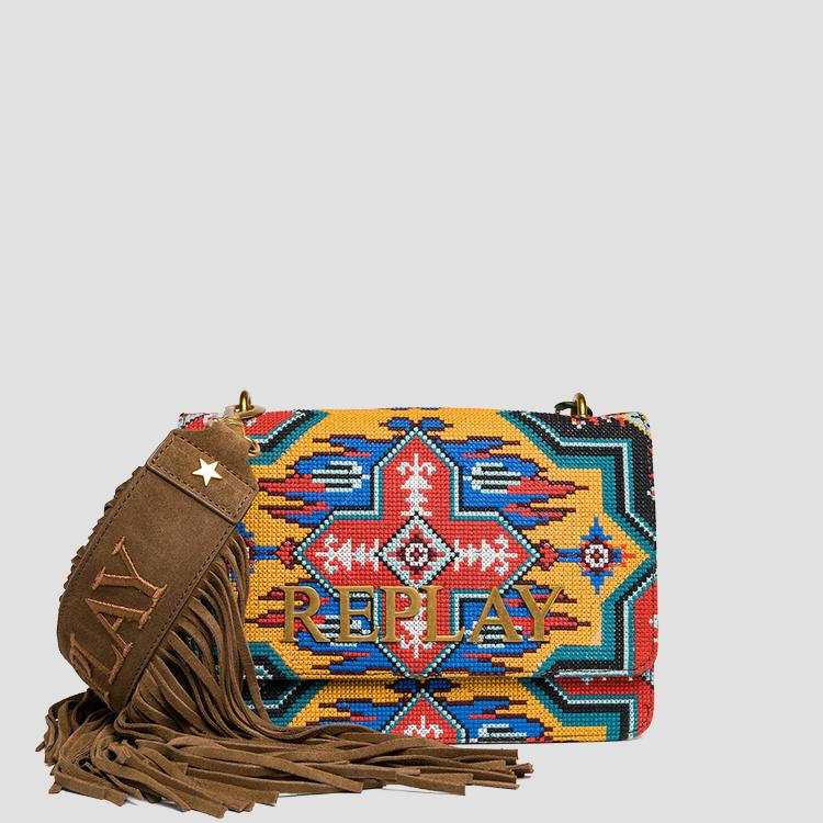 Shoulder bag with ethnic pattern - Replay
