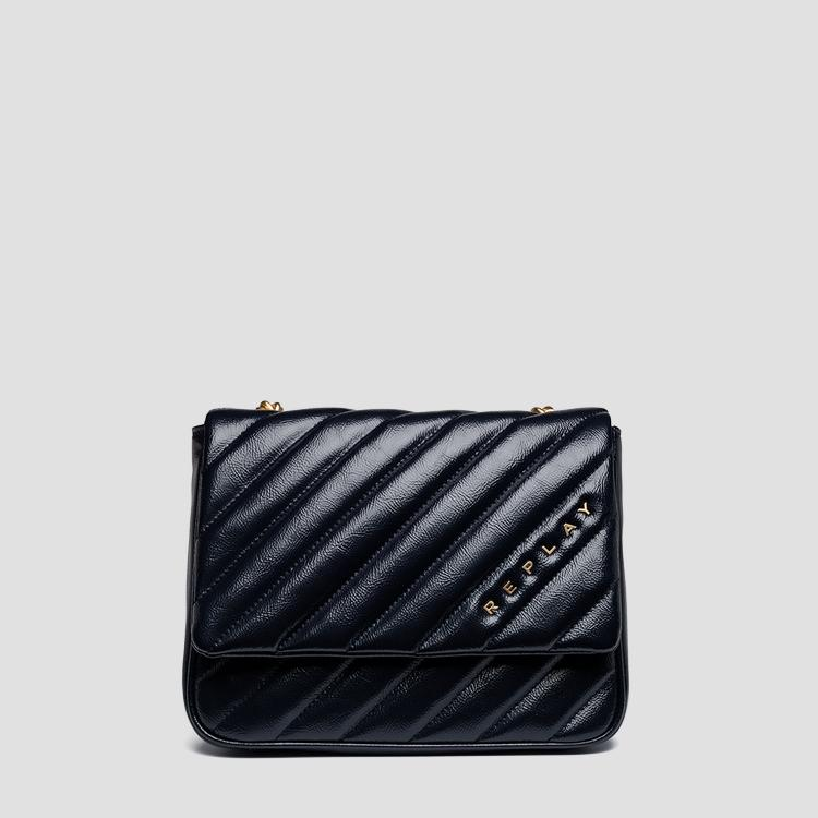 Shiny quilted shoulder bag - Replay