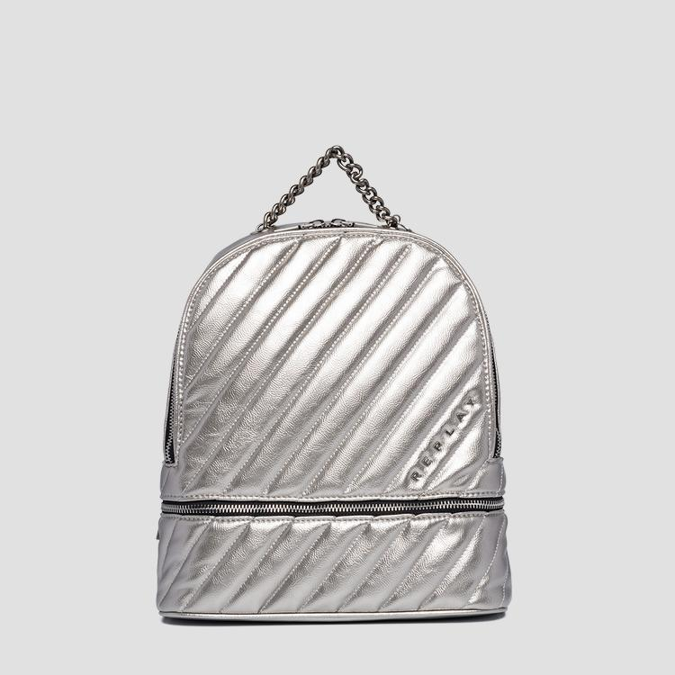 Quilted backpack with pocket fw3919.000.a0316b