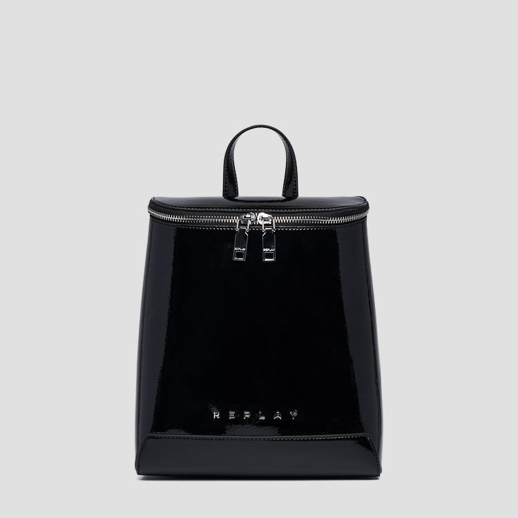 Backpack with shiny effect and zipper - Replay