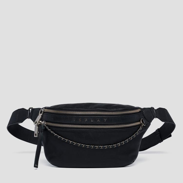 Leather waist bag with chain fw3955.000.a3127c