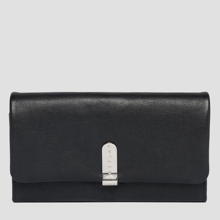 Grained leather wallet fw5219.000.a3146