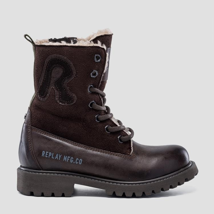 Boy's THOMAS leather high boots- REPLAY&SONS