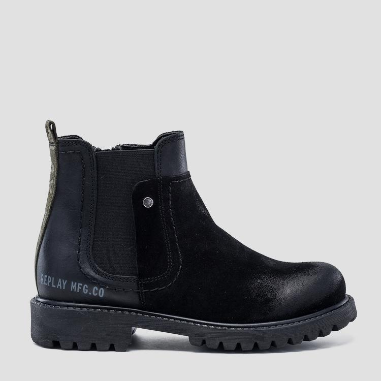 Boy's JAMES leather boots- REPLAY&SONS