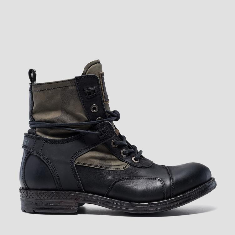 Men's FINVOI lace up leather ankle boots gmc41 .000.c0024l