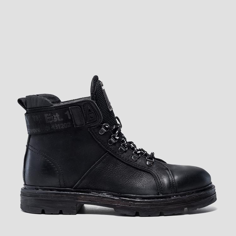 Men's DUNSER lace up leather ankle boots - Replay