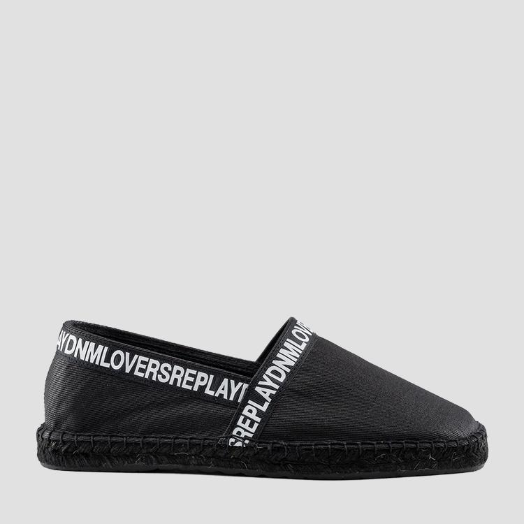 Men's FORCEPOINT slip on denim espadrilles gmf16 .000.c0045t