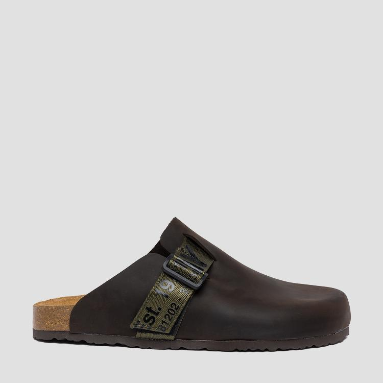 Men's INTERBAY leather mules - Replay