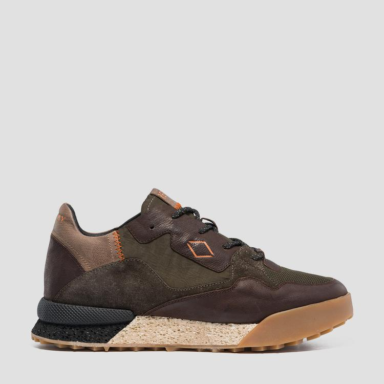 Men's SANDOVAL lace up leather sneakers - Replay