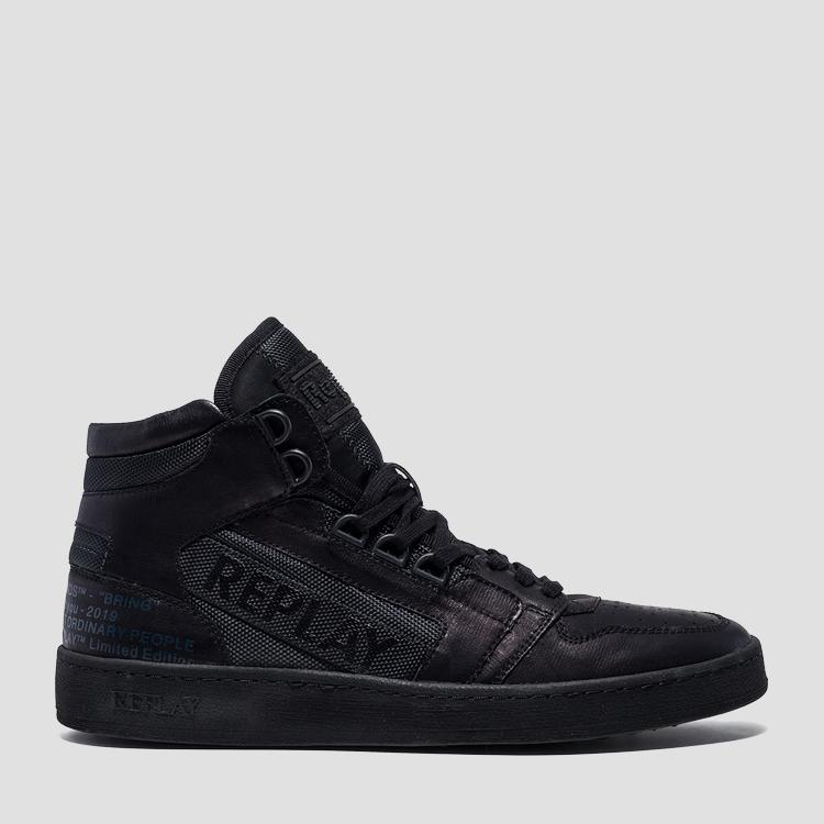 Men's HURDLE lace up mid cut sneakers gmz1g .000.c0009s