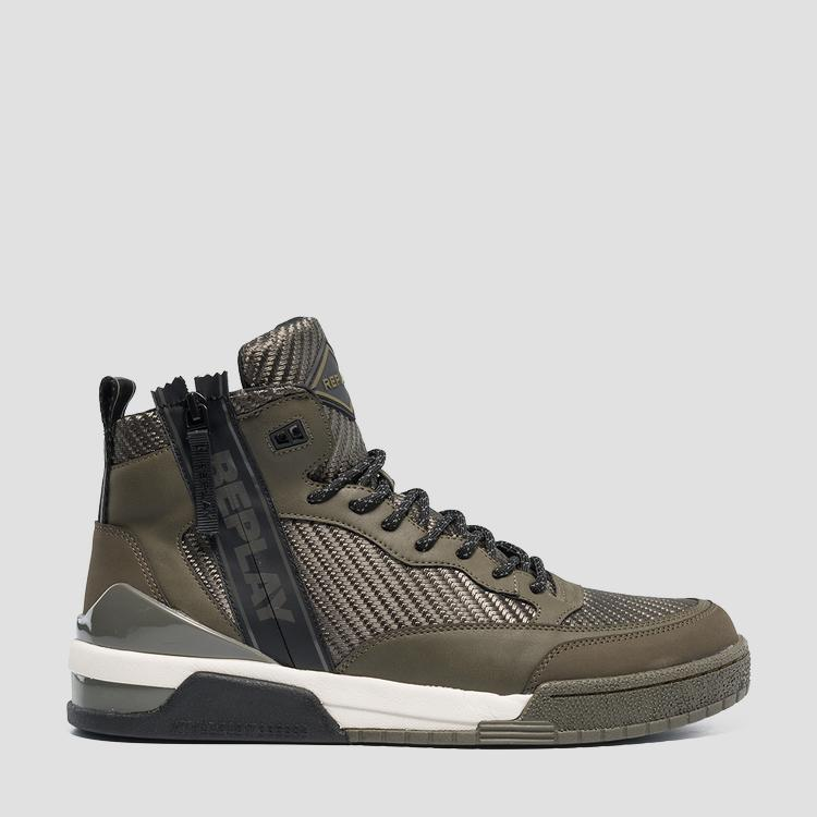 Men's UNITED lace up mid cut sneakers gmz1r .000.c0007t