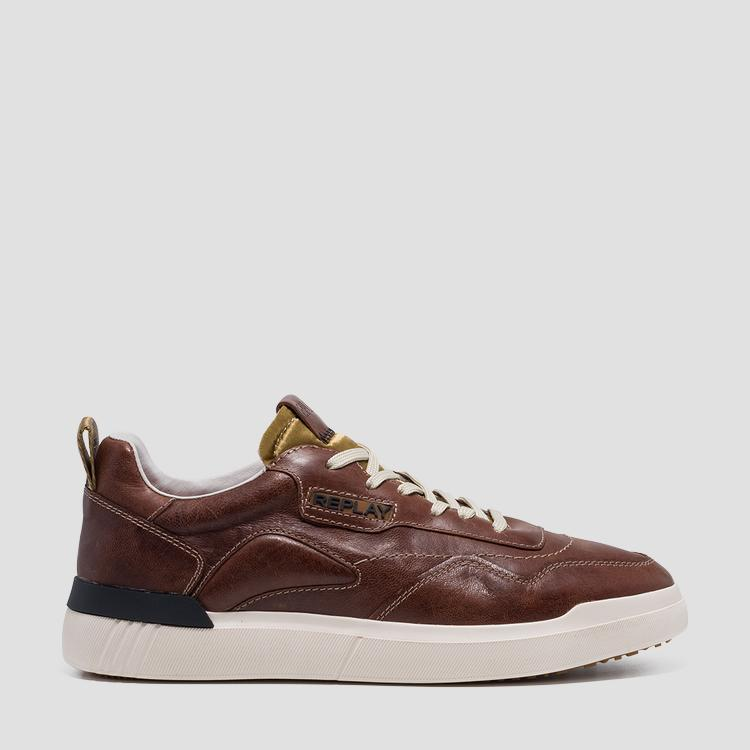 Men's BENET lace up leather sneakers - Replay