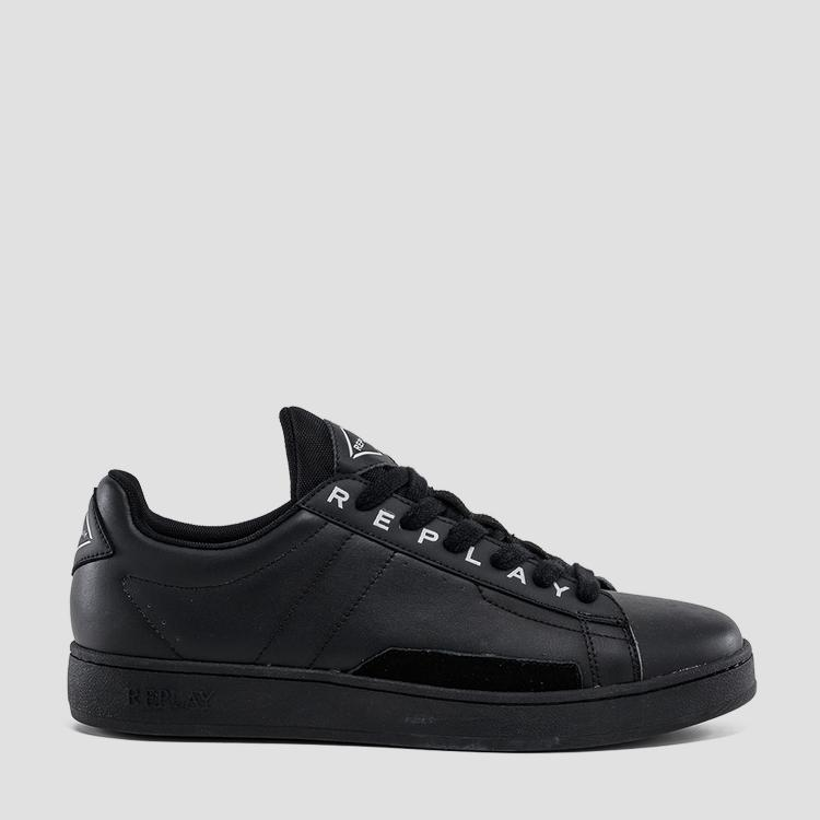 Men's BASE MAN lace up leather sneakers gmz2v .000.c0007l
