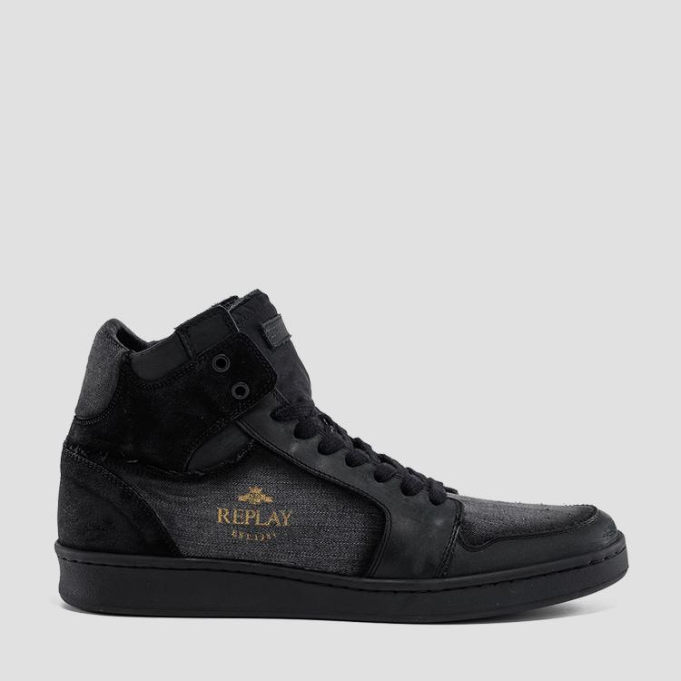 Men's ORMEWOOD lace up mid cut sneakers gmz3l .000.c0005t