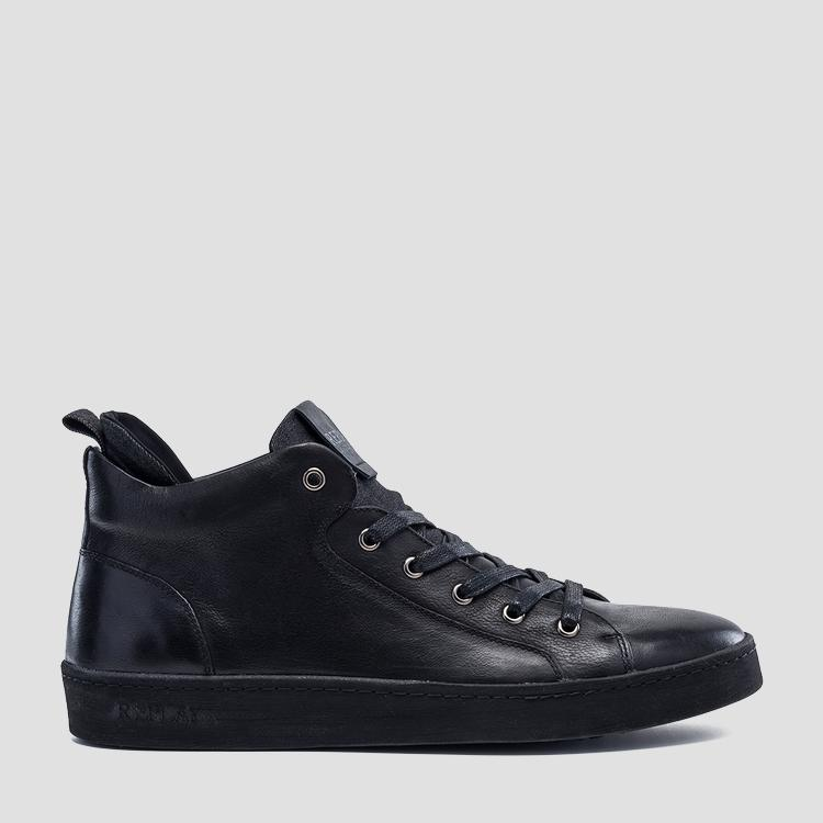 Men's EXODUS lace up leather mid cut shoes - Replay