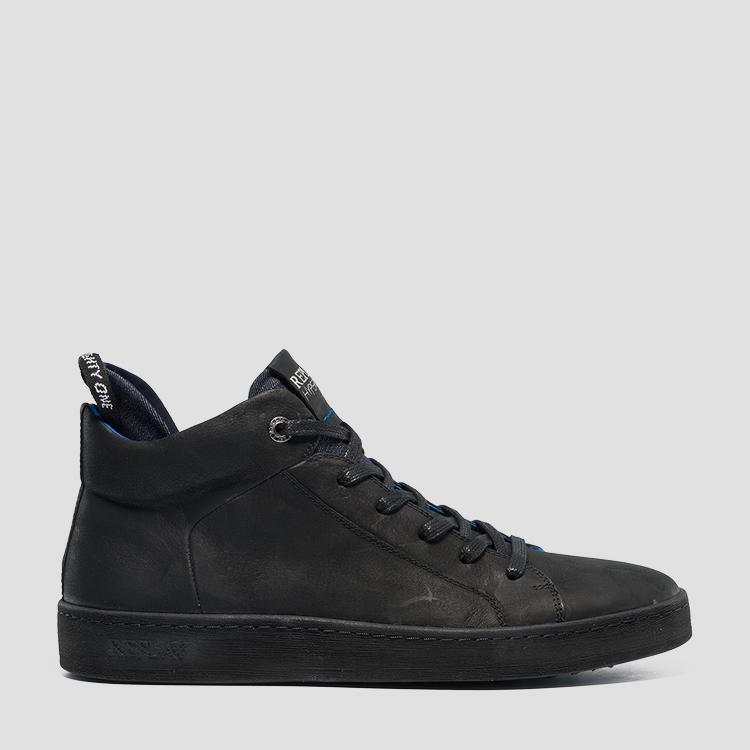 Men's BRIGHTOON lace up mid cut leather sneakers gmz52 .000.c0026l