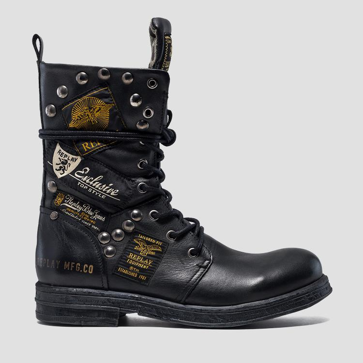 Women's DUSTER lace up leather boots gwl26 .000.c0075l