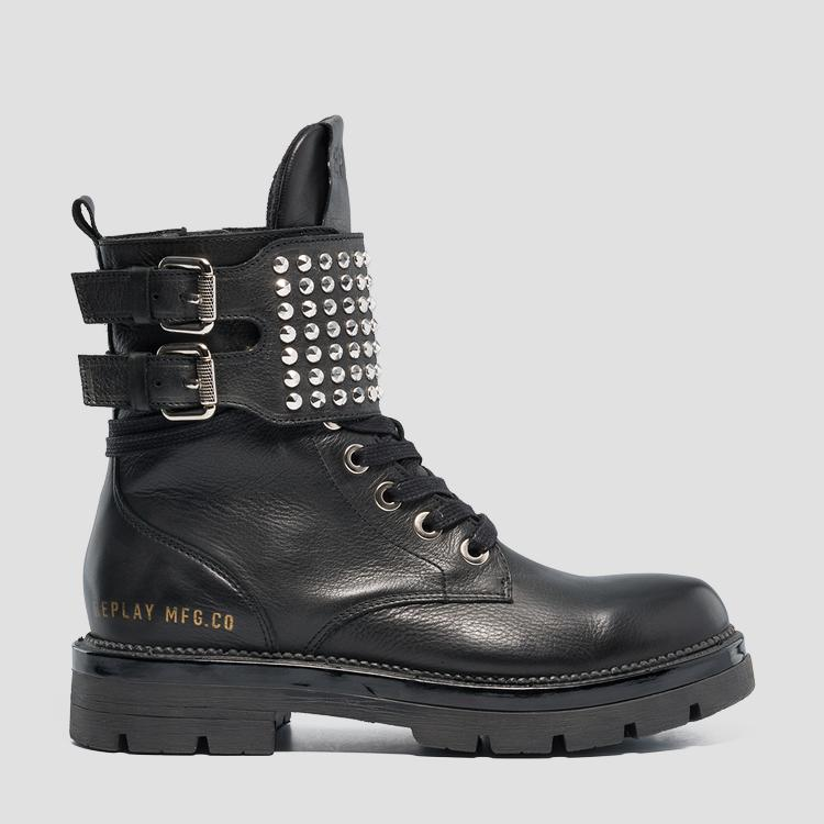 Women's MYKITA lace up leather boots gwl51 .000.c0011l