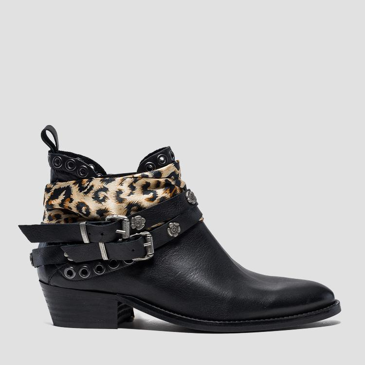 Women's HAWLEY leather mid boots gwn57 .000.c0002l