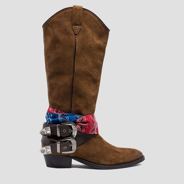 Women's FRUITLAND leather high boots gwn57 .000.c0006l