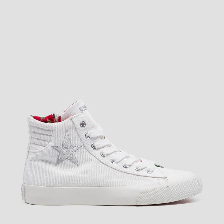 Women's LAWNE lace up mid cut sneakers - Replay