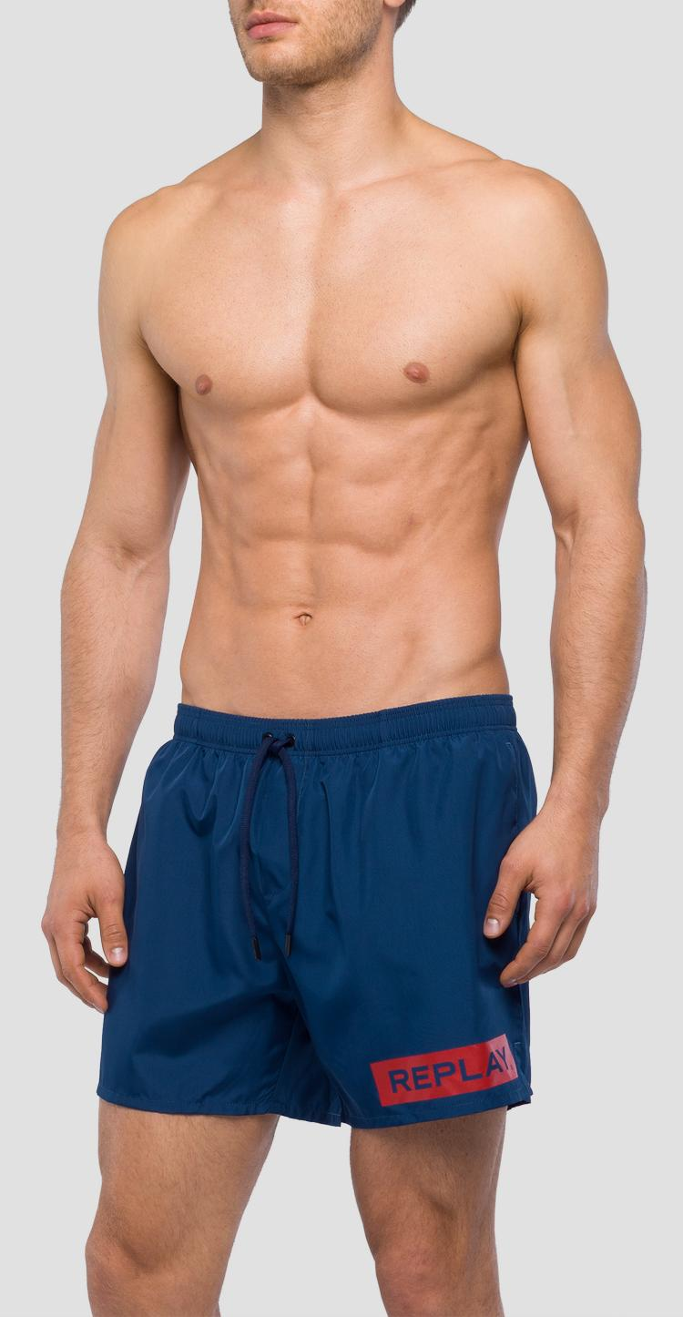Swim shorts with REPLAY writing lm1044.000.82972