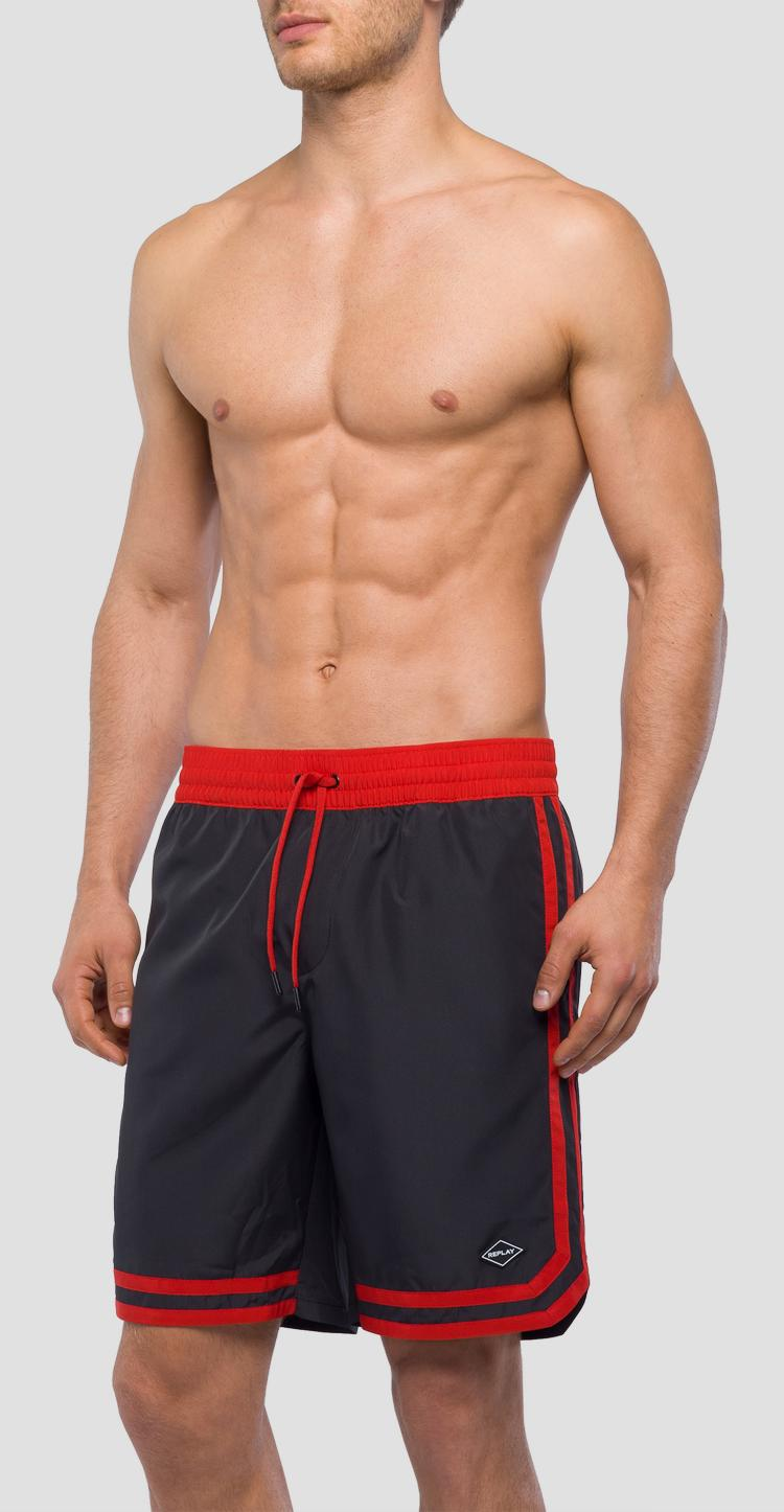 Striped swingman swim shorts lm1056.000.82972