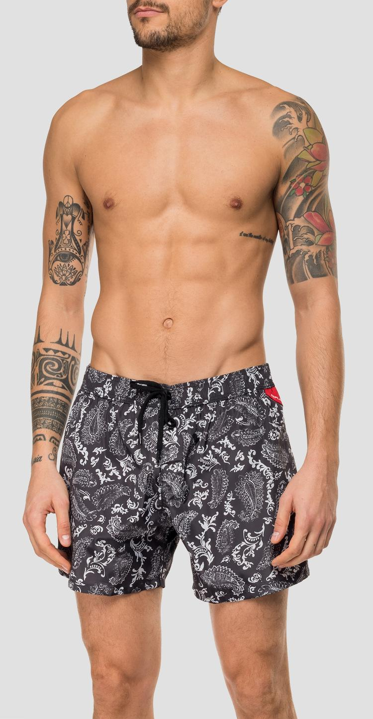 Swimming trunks with floral print lm1067.000.72076