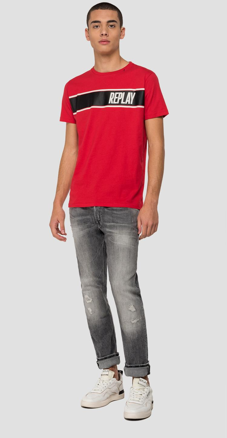 Mélange t-shirt with REPLAY print m3004 .000.2660