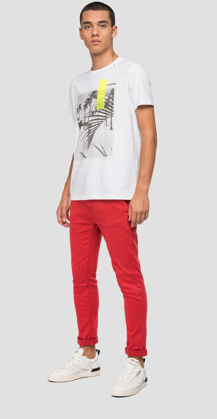 REPLAY t-shirt with beach print m3010 .000.2660