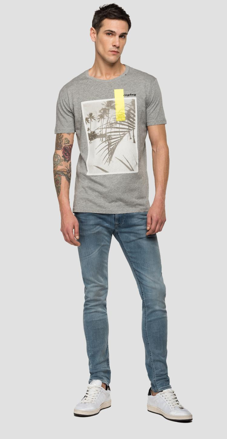 REPLAY t-shirt with beach print - Replay