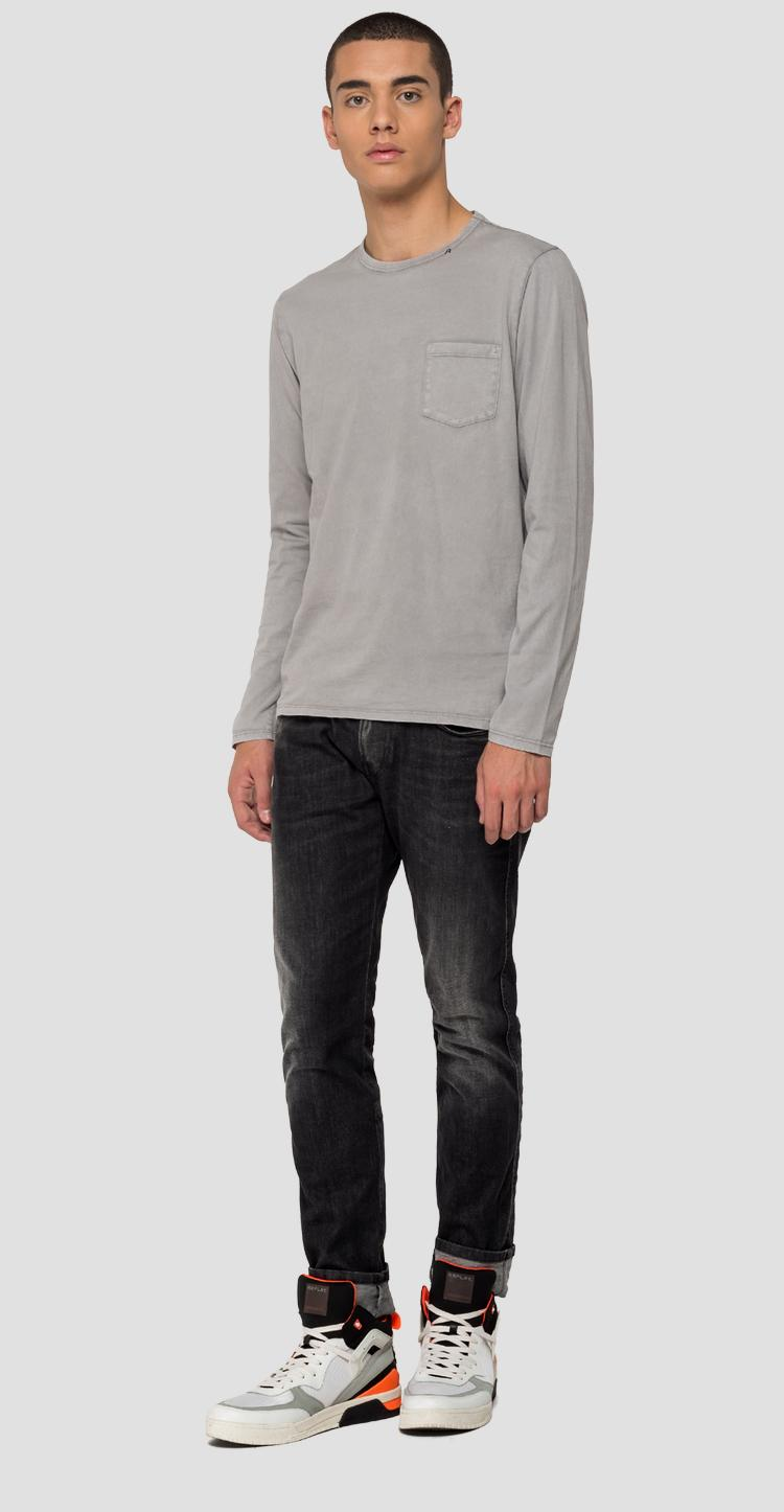 Long-sleeved t-shirt with pocket m3064 .000.22326