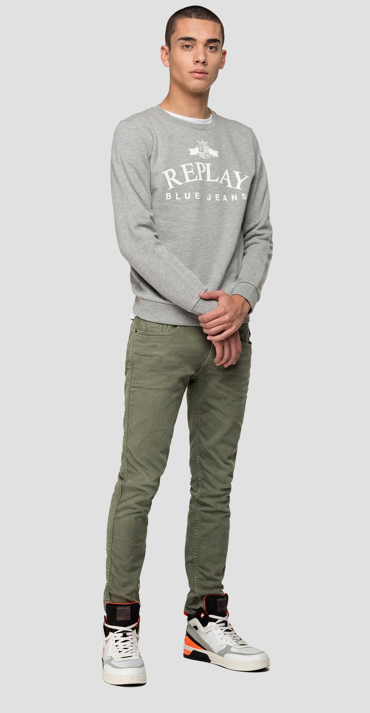 REPLAY Blue Jeans cotton sweatshirt - Replay