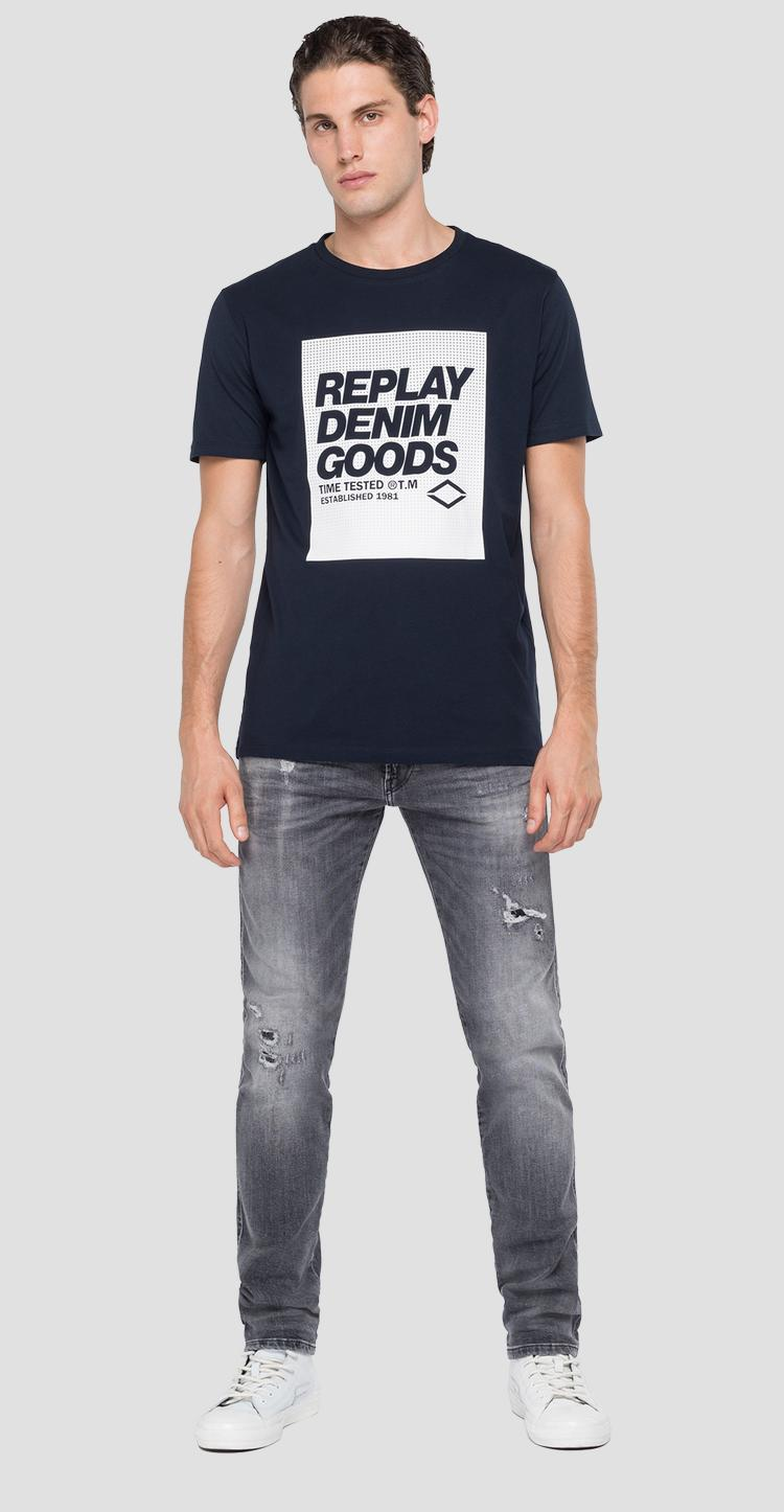 REPLAY crewneck t-shirt with print m3143 .000.2660