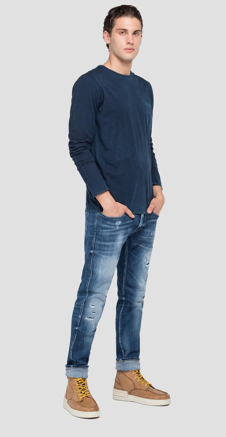 Long-sleeved t-shirt with pocket m3184 .000.22326