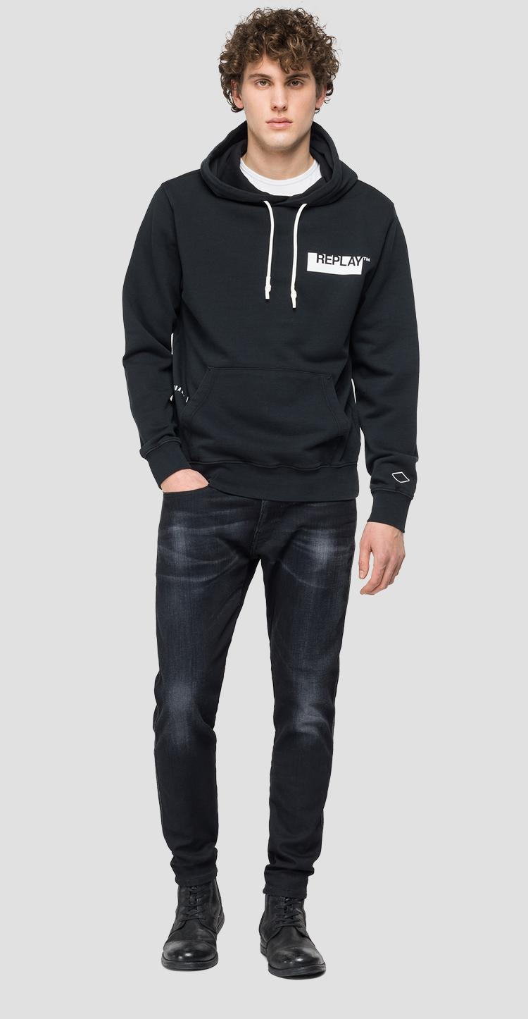 Hoodie with REPLAY print m3337 .000.22738g