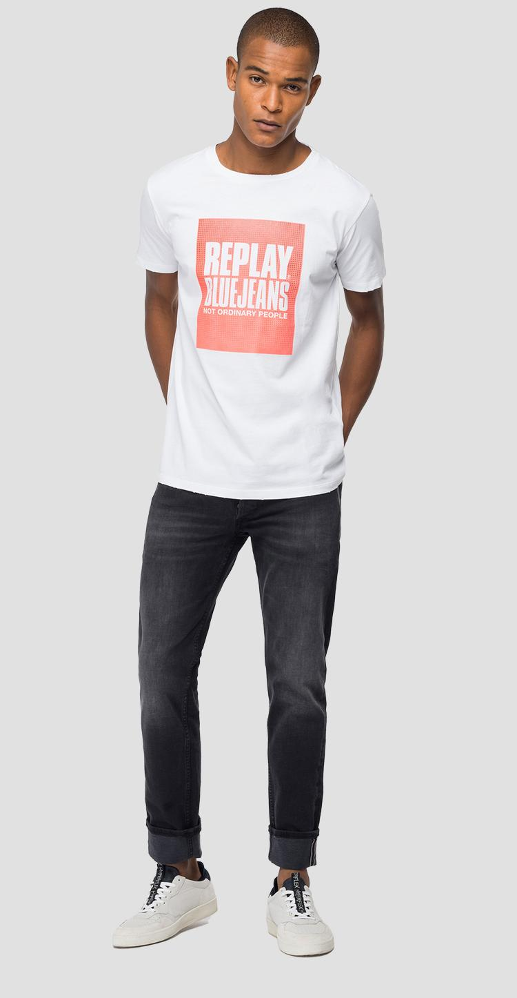 REPLAY BLUE JEANS NOT ORDINARY PEOPLE crewneck t-shirt m3365 .000.22038g
