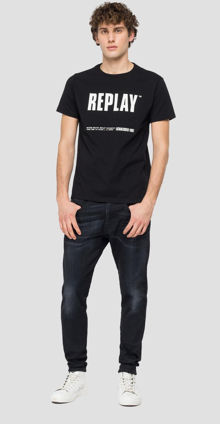 REPLAY BLUE JEANS ESTABLISHED 1981 print t-shirt m3413 .000.22880